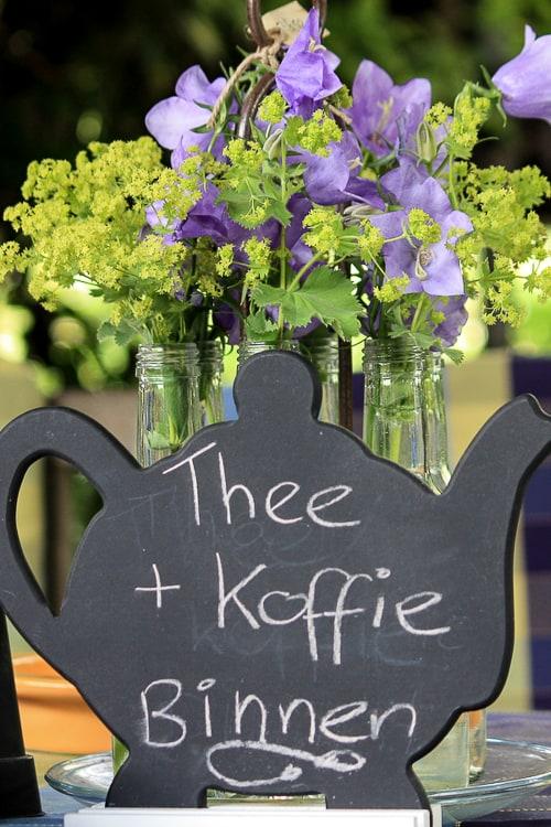 Koffie en thee staan klaar!